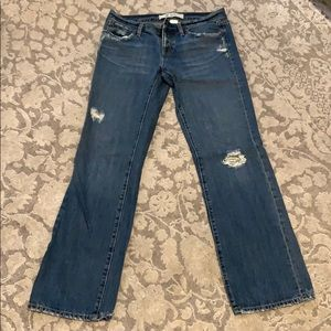 Gap Original Boy Cut Distressed Blue Jean size 6